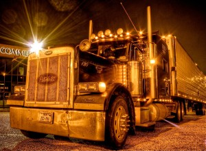 semi truck at night; forgiveness