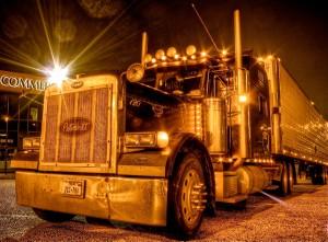 semi truck at night; forgiveness