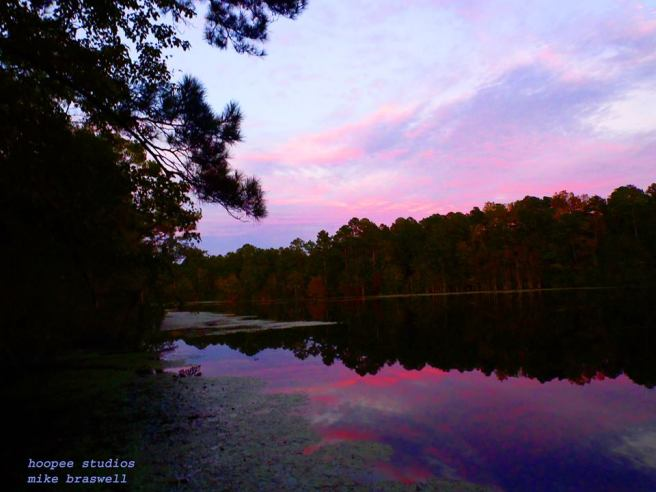 Braswell Lake, Georgia, sunset, pannellbytes, Duane Pannell, Redneck Russian